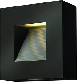 Hinkley Luna 2-Light Outdoor Wall Light Satin Black 1647SK-LED