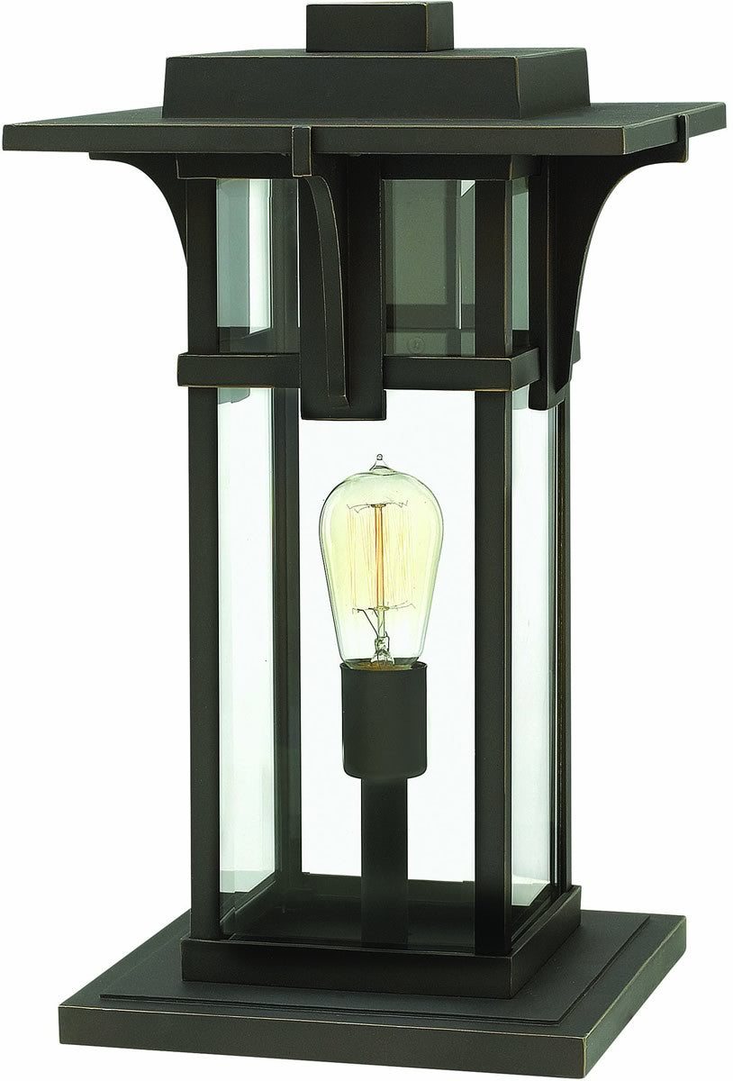 Manhattan 1-Light Pier Mount Oil Rubbed Bronze