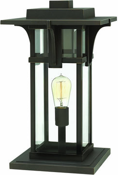 "18""H Manhattan 1-Light Pier Mount Oil Rubbed Bronze"