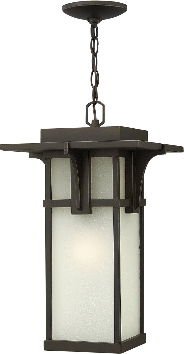 "11""w Manhattan 1-Light Hanger Outdoor Oil Rubbed Bronze"