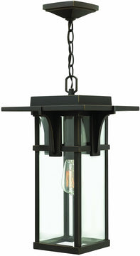 "11""W Manhattan 1-Light Outdoor Pendant Oil Rubbed Bronze"