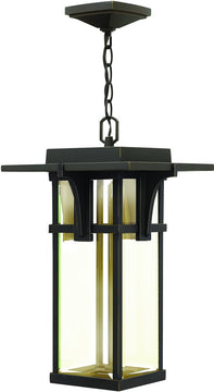 "11""W Manhattan 1-Light Outdoor Pendant Light Oil Rubbed Bronze"
