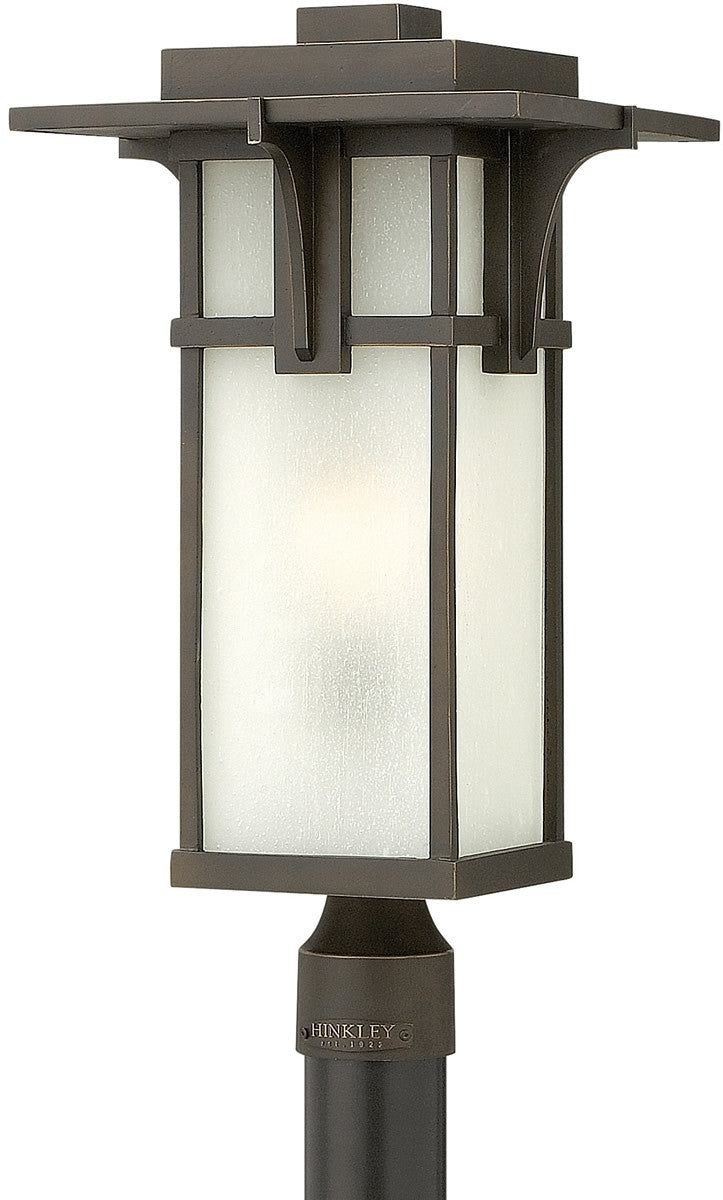 "22""h Manhattan 1-Light Post Outdoor Oil Rubbed Bronze"