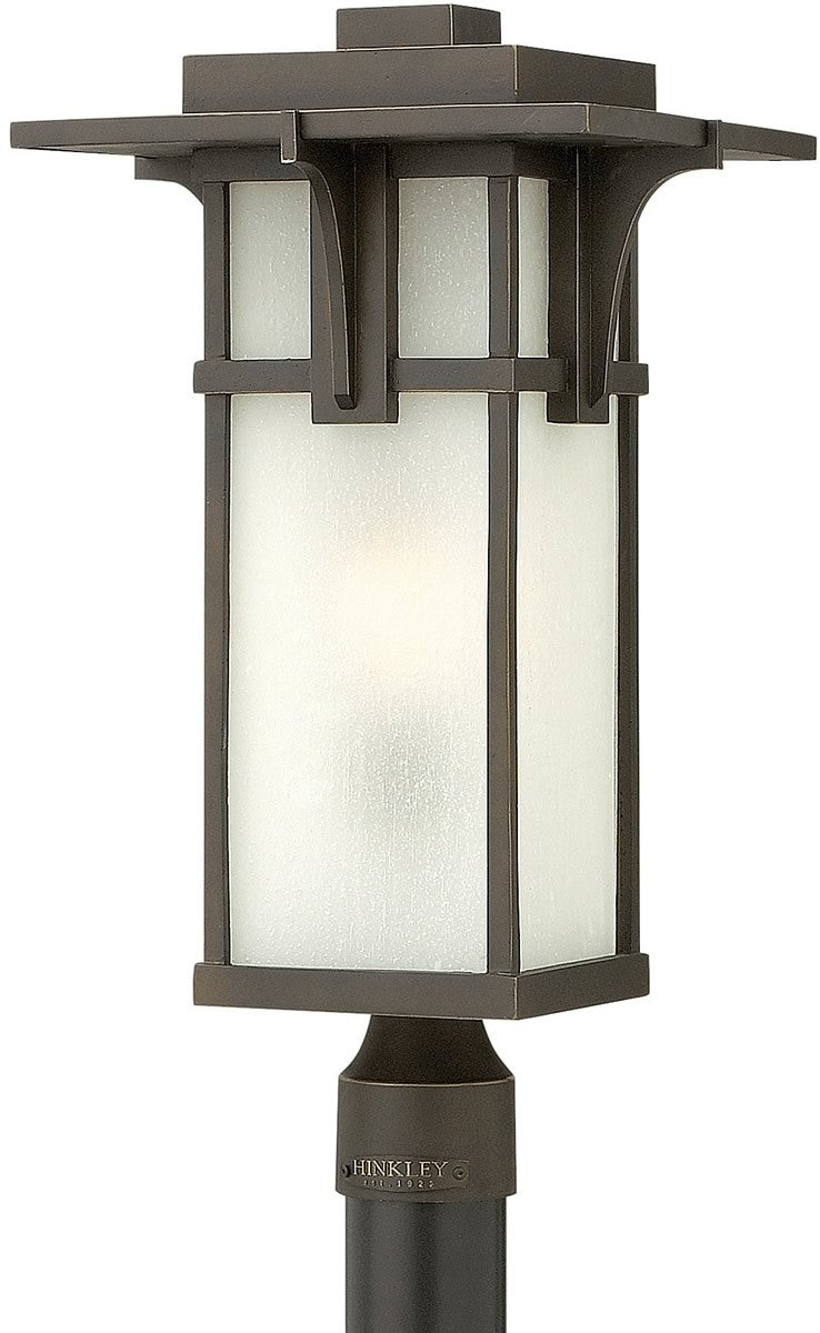 "22""H Manhattan 1-Light LED Post Outdoor Oil Rubbed Bronze"