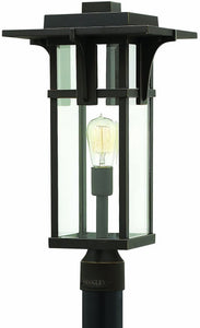 Hinkley Manhattan 1-Light Outdoor Post Mount Oil Rubbed Bronze 2321OZ