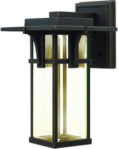 Manhattan 1-Light Outdoor Wall Light Oil Rubbed Bronze