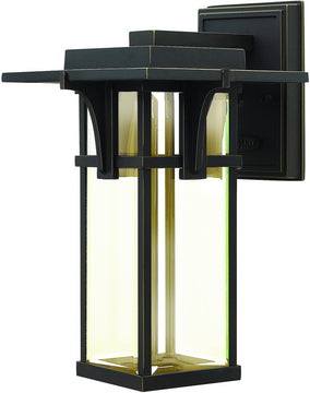 "12""H Manhattan 1-Light Outdoor Wall Light Oil Rubbed Bronze"