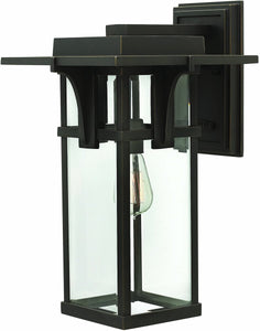 Hinkley Manhattan 1-Light Outdoor Wall Light Oil Rubbed Bronze 2325OZ