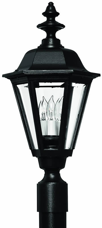 "22""h Manor House 1-Light Large Outdoor Post Lantern Black"