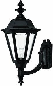 Hinkley Manor House 1-Light Large Outdoor Wall Lantern Black 1449BK