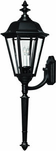 Hinkley Manor House 1-Light Extra-Large Outdoor Wall Lantern Black 1470BK