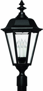 Hinkley Manor House 1-Light Extra-Large Outdoor Wall Lantern Black 1471BK