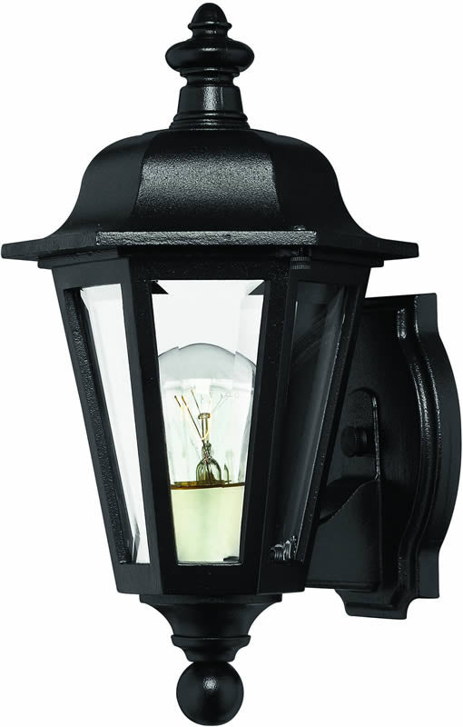 "12""h Manor House 1-Light Outdoor Wall Lantern Black"