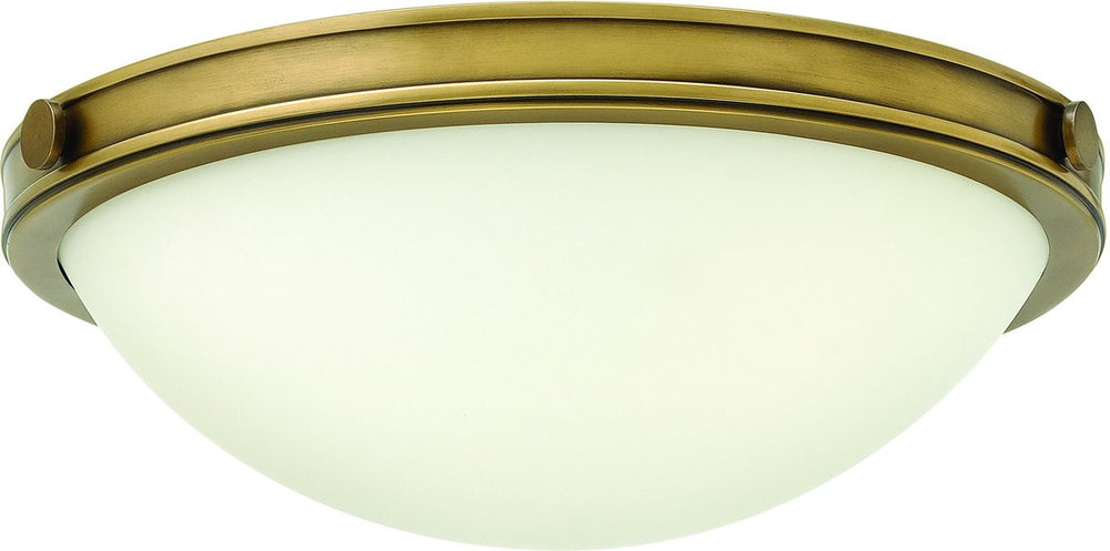 "14""W Maxwell 2-Light Flush Mount Heritage Brass"