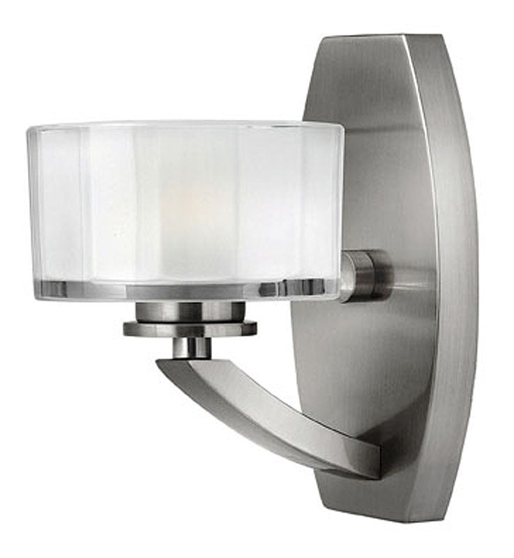 "5""w Meridian 1-Light Bathroom Vanity Brushed Nickel"