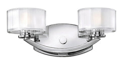 "14""w Meridian 1-Light Bathroom Vanity Chrome"