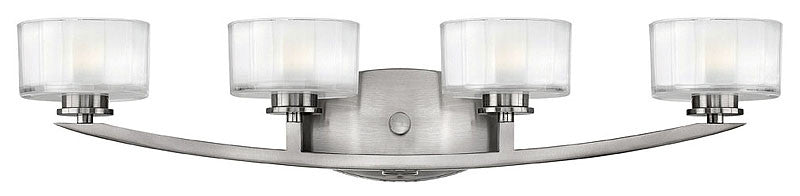 "29""w Meridian 4-Light Bathroom Vanity Brushed Nickel"