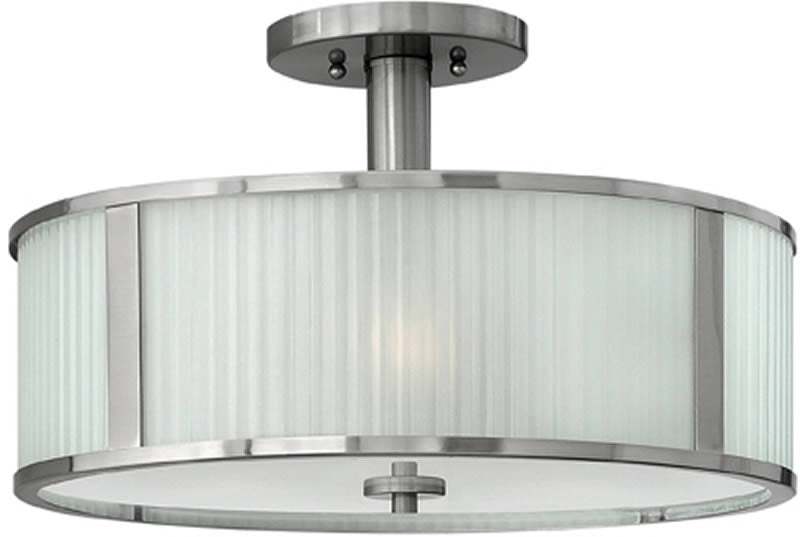 "18""w Midtown 3-Light Chandelier Brushed Nickel"