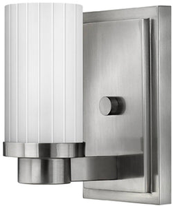 "5""w Midtown 1-Light Wall Sconce Brushed Nickel"