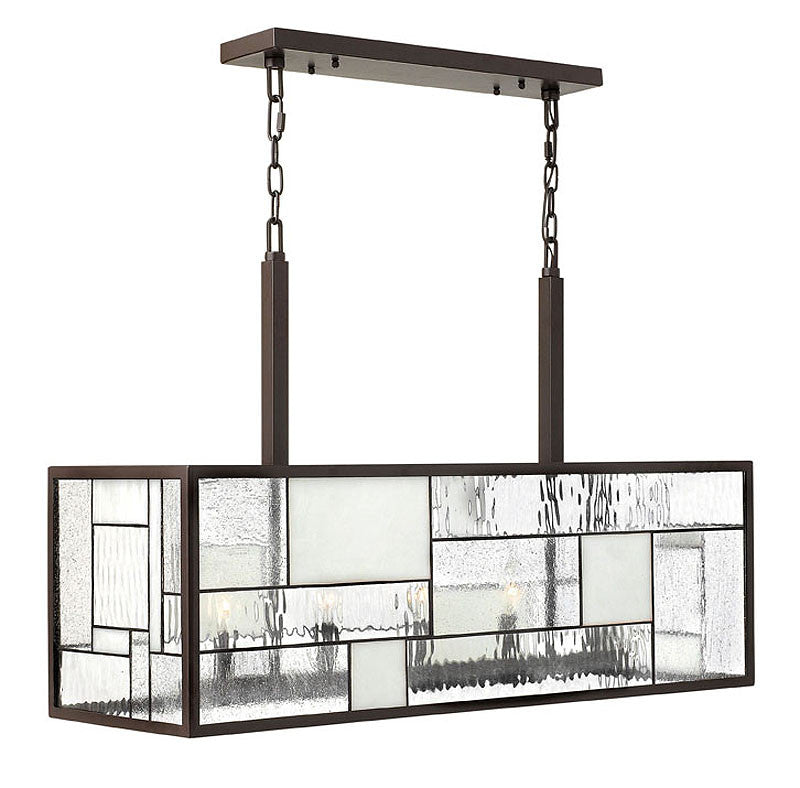 "36""w Mondrian 5-Light Island Chandelier Buckeye Bronze"