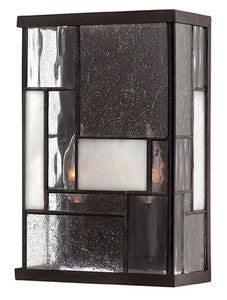 "7""w Mondrian 2-Light Wall Sconce Buckeye Bronze"