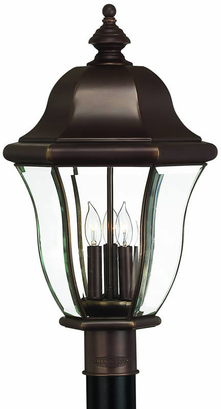 "22""h Monticello 3-Light Large Outdoor Post Lantern Copper Bronze"