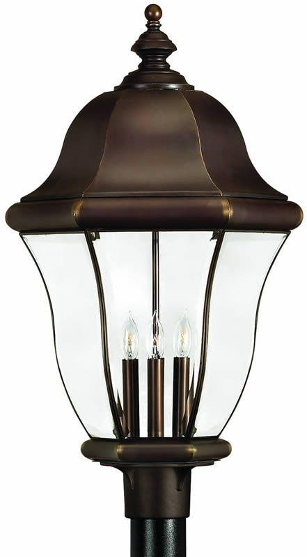 "27""H Monticello 4-Light Extra-Large Outdoor Post Lantern Copper Bronze"