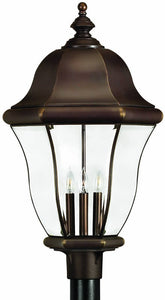 Hinkley Monticello 4-Light Extra-Large Outdoor Post Lantern Copper Bronze 2337CB