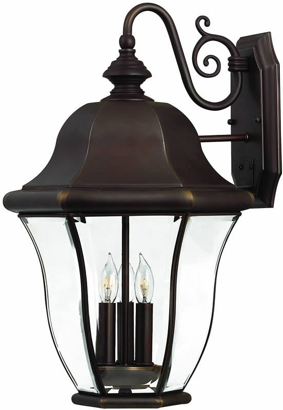 "21""h Monticello 3-Light Large Outdoor Wall Lantern Copper Bronze"