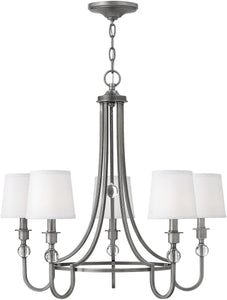 Hinkley Morgan 5-Light Chandelier Antique Nickel 4875AN