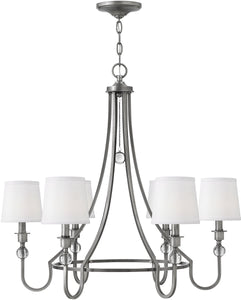 Hinkley Morgan 6-Light Chandelier Antique Nickel 4876AN