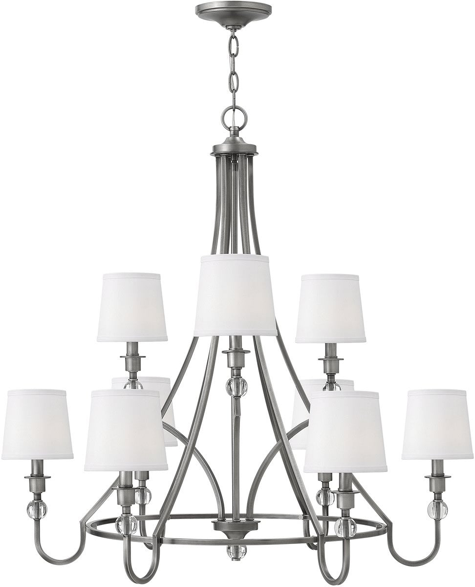 Morgan 9-Light Chandelier Antique Nickel