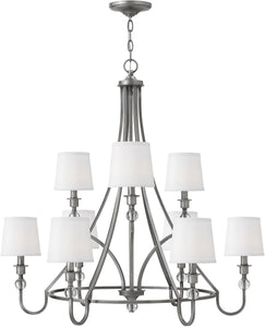 Hinkley Morgan 9-Light Chandelier Antique Nickel 4878AN