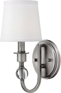 Hinkley Morgan 1-Light Wall Sconce Antique Nickel 4870AN