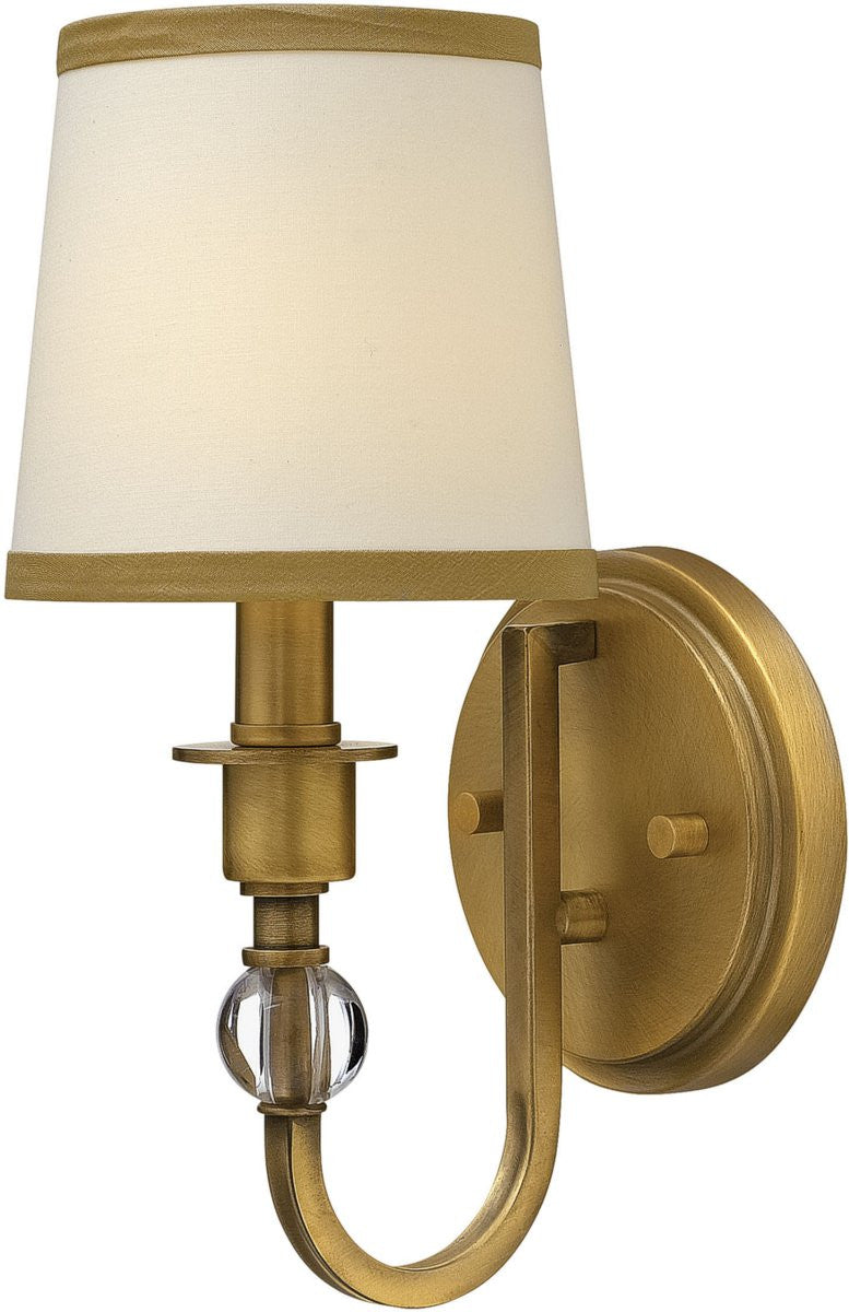 Morgan 1-Light Wall Sconce Brushed Bronze