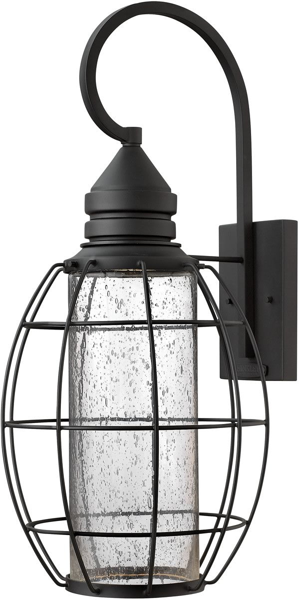 "24""h New Castle 1-Light Wall Outdoor Black"