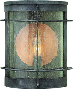 Newport 1-Light Outdoor Wall Light Aged Zinc
