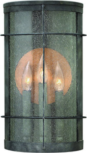 Hinkley Newport 3-Light Outdoor Wall Light Aged Zinc 2625DZ