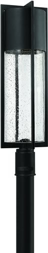 "28""h Dwell LED Outdoor Post Lantern Black"