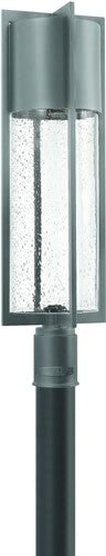 Hinkley Dwell LED Outdoor Post Lantern Hematite 1321HELED