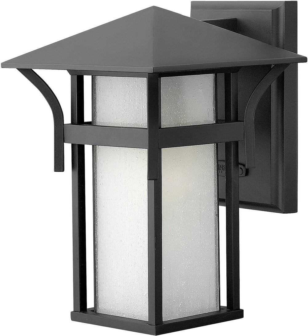 "11""h Harbor Outdoor Wall Lantern Satin Black"