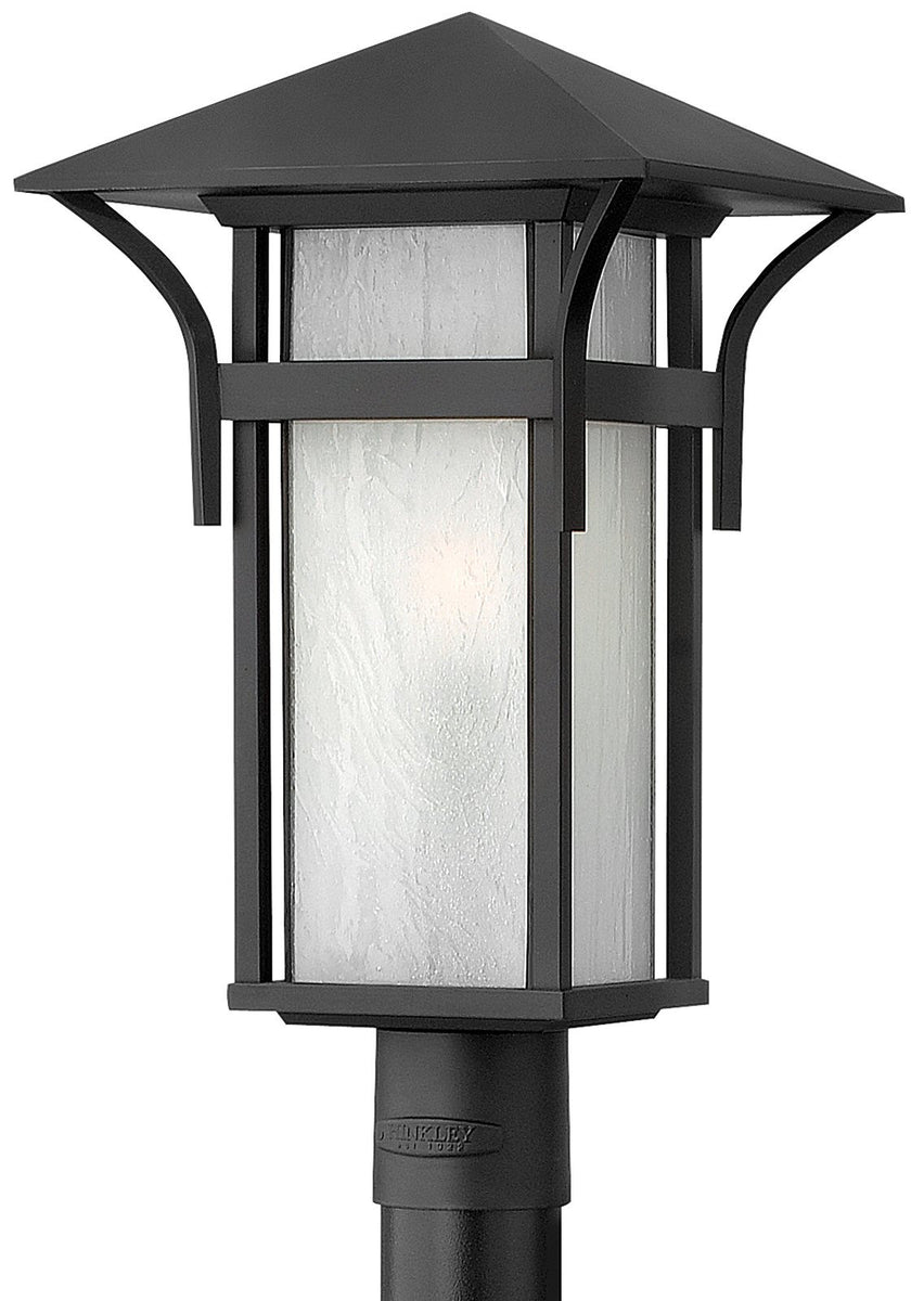 "20""h Harbor Outdoor Post Lantern Satin Black"