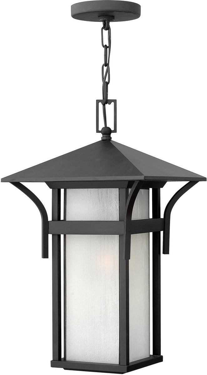 "19""h Harbor Outdoor Hanging Pendant Satin Black"