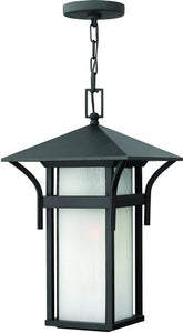 "19""h Harbor LED Outdoor Hanging Pendant Satin Black"