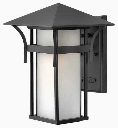 "14""h Harbor Outdoor Wall Lantern Satin Black"