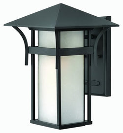 Hinkley Harbor LED Outdoor Wall Lantern Satin Black 2574SKLED