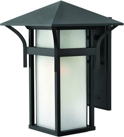 Hinkley Harbor LED Outdoor Wall Lantern Satin Black 2575SKLED