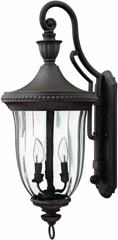 "29""h Oxford 3-Light Large Outdoor Wall Lantern Midnight Bronze"