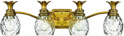 "29""w Plantation 4-Light Bath Vanity Burnished Brass"