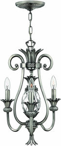 Hinkley Plantation 3-Light Chandelier Polished Antique Nickel 4103PL